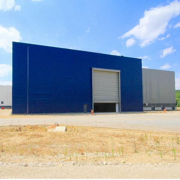 Construction d'un bâtiment de fabrication airbus
