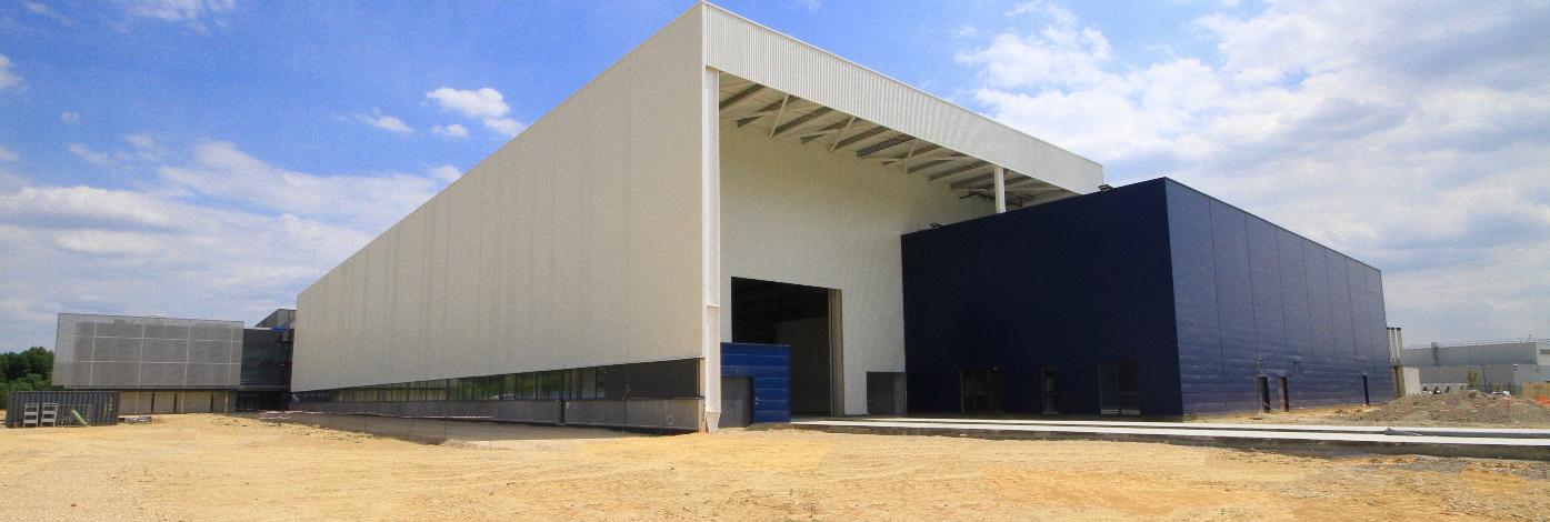 Construction d'un bâtiment de fabrication ariane les mureaux